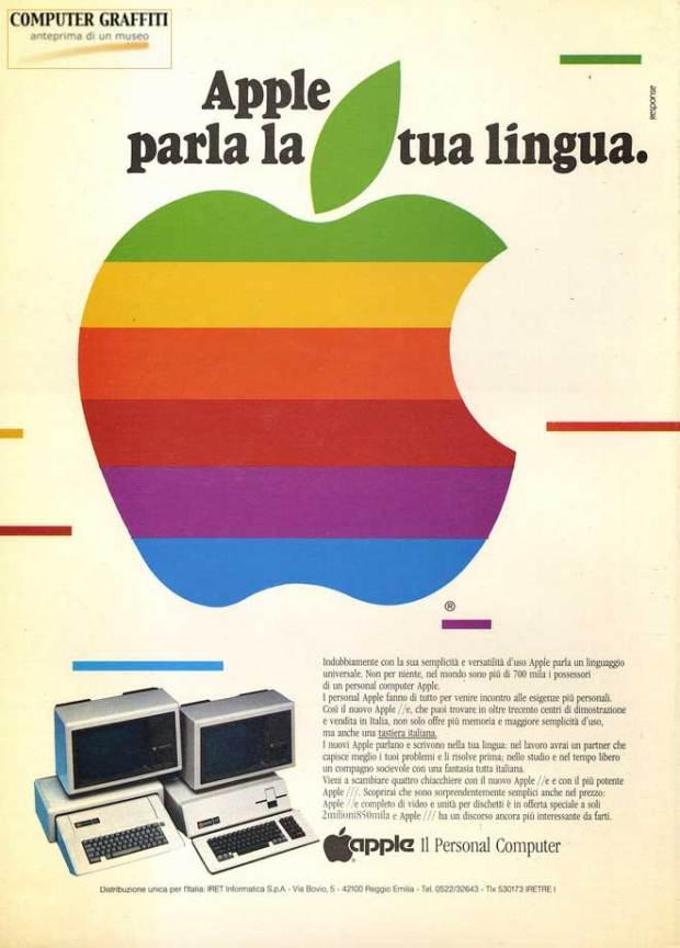 pubblicit°Apple 620x864 Apple: come è nato il logo con la mela morsicata?