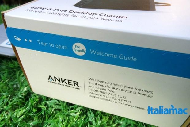 anker alimentatore 6 porte usb13 620x414 Anker, alimentatore a 6 porte USB da parete con Tecnologia PowerIQ