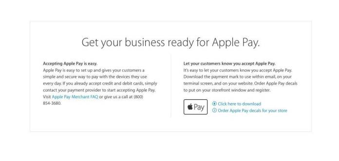 apple pay6 Apple invia gli adesivi a chi accetta pagamenti Apple Pay