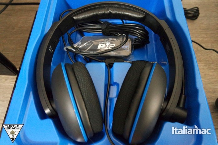 ear force p1218 Turtle Beach, Ear Force P12 Headset per il gaming stereo amplificato per Play Station 4