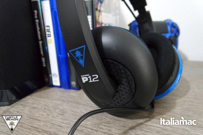 ear force p127 Turtle Beach, Ear Force P12 Headset per il gaming stereo amplificato per Play Station 4