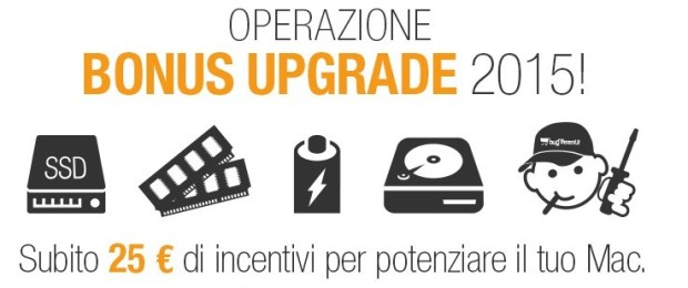 operazione bonus upgrade 620x260 BuyDifferent: 25 € di incentivo per velocizzare il vostro Mac
