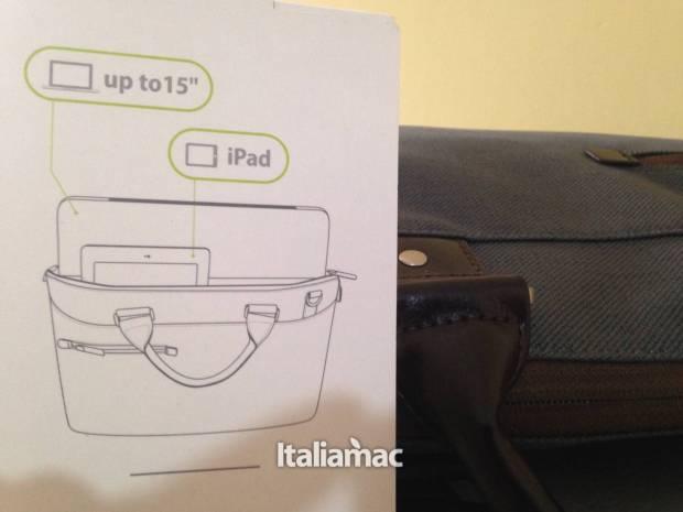 particolare urbana 620x465 Urbana di Moshi, la borsa per Macbook e iPad  dedicata alle donne.