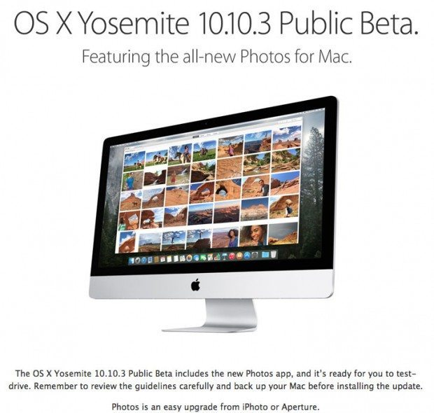 test drive os x yosemite 10.10.3 public beta with photos 620x590 Nuova beta pubblica di Yosemite 10.10.3, arriva Photos al posto di iPhoto