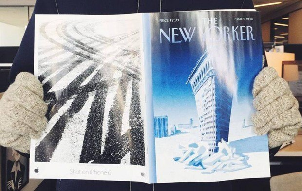 the new yorker iphone 61 620x392 Apple continua a promuovere la sua campagna Scattata con iPhone 6