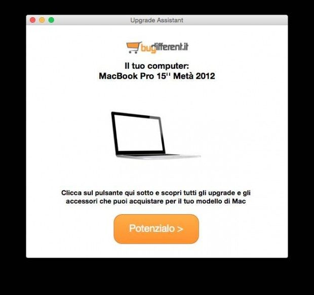 upgrade assistant app 620x584 BuyDifferent: 25 € di incentivo per velocizzare il vostro Mac