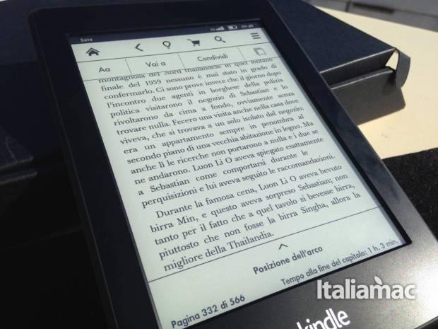 kindle paperwhite opzioni 620x465 Kindle Paperwhite 3G, la mia prova dell eReader Amazon