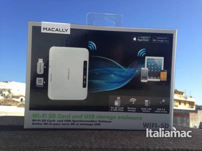 Macally Wi-fi sd card confezione
