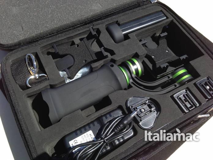 lanparte contenuto valigetta 2 Handheld Gimbal, lo stabilizzatore di Lanparte dedicato a iPhone e GoPro