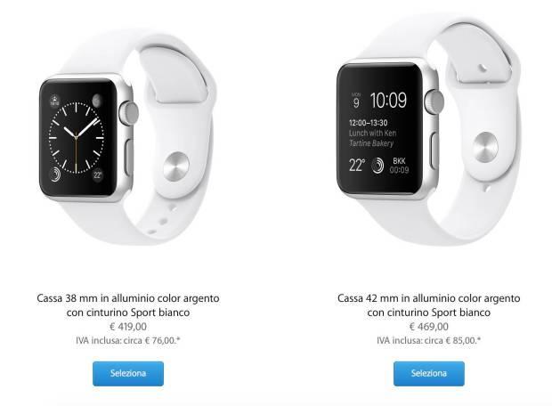 schermata 2015 06 27 alle 19.55.27 620x456 Apple Watch prezzi rincarati per lItalia