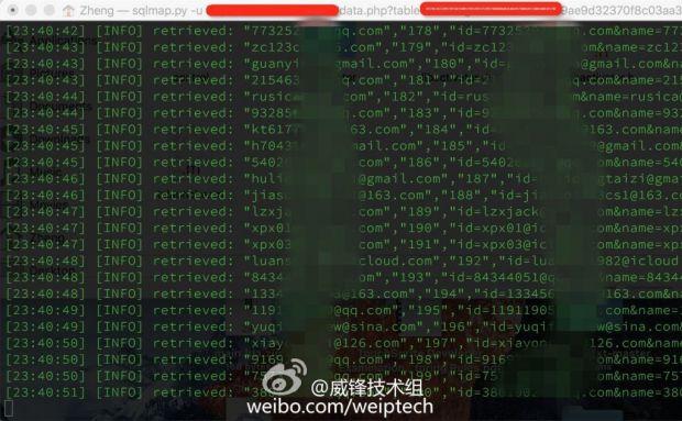 chinese icloud hacked accounts 620x383 220,000 account iCloud violati a causa del jailbreak