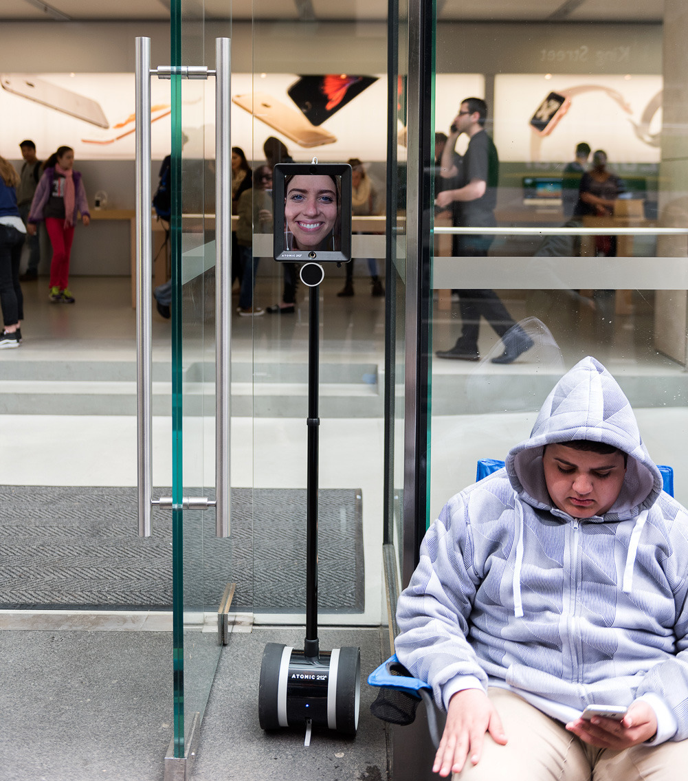 Lucy Kelly Robot Apple Store