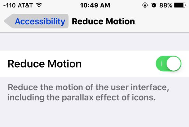 reduce motion speed up ios 9 610x408 Come migliorare la performance di iOS 9 con tre semplici consigli