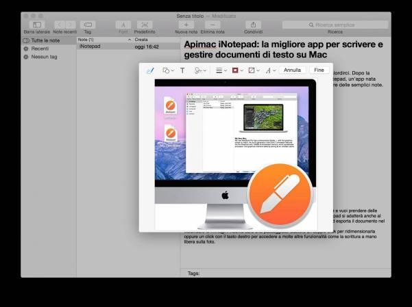 schermata 2015 09 21 alle 16.56.15 Apimac iNotepad: la migliore app per scrivere e gestire documenti di testo su Mac