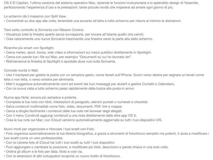 schermata 2015 09 30 alle 19.56.54 Rilasciato OS X El Capitan