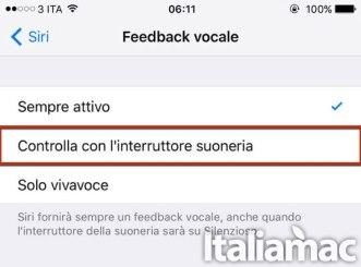 siri suoneria Come silenziare Siri quando iPhone è in modalità Silenzioso
