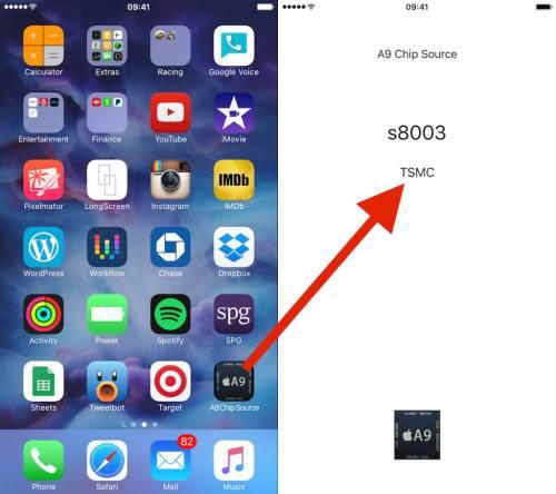 a9 chip tsmc samsung 1024x909 Come controllare se il processore del vostro iPhone 6s è fatto da TSMC o da Samsung