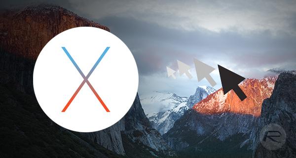 os x el capitan shake to locate Come disabilitare Scuoti il puntatore del mouse per individuare su OS X El Capitan