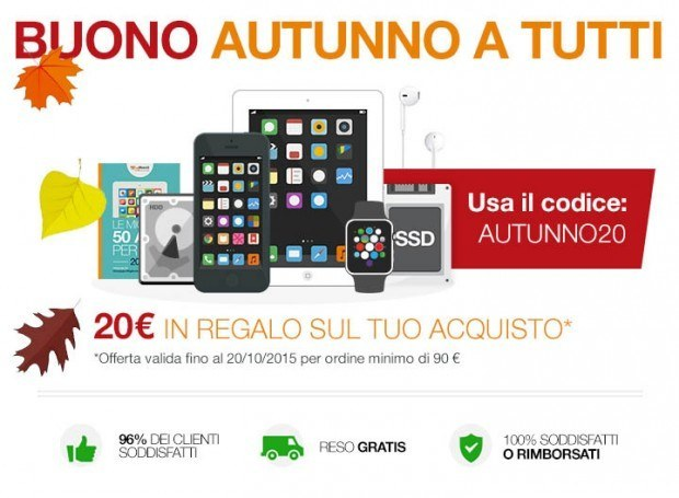 promozione 20euro buydifferent1 620x455 Ultime Ore   Coupon 20 Euro BuyDifferent per iDevice, upgrade Mac e videocorsi