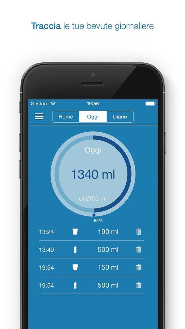 remembertodrinkios 1242x2208 it 3 620x1102 App che ti ricorda di bere la giusta quantità d'acqua: Remember to Drink