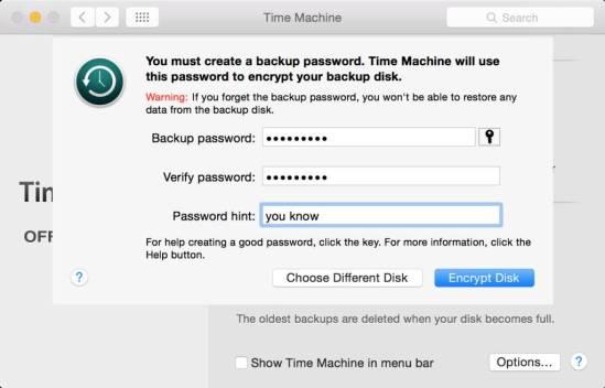 time machine encrypt 1024x656 Come criptare i backup effettuati con Time Machine