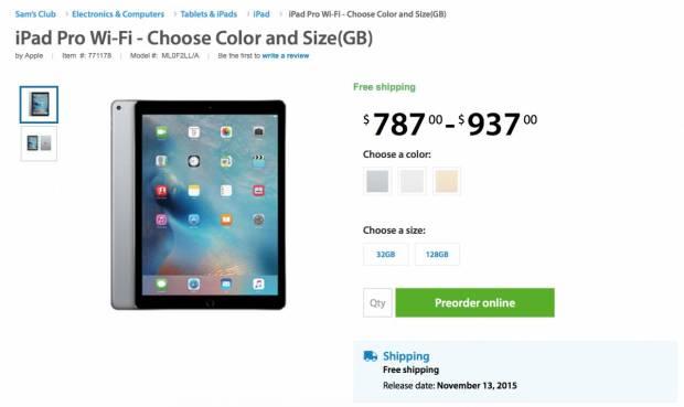 248860 1280 620x369 Sams Club accetta Pre Order di iPad Pro; spedizione prevista per il 13 Novembre