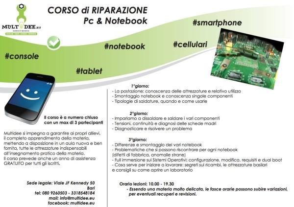corso pc e notebook e1448634411902 Multidee.eu, corsi per la riparazione di Smartphone, Tablet e Pc