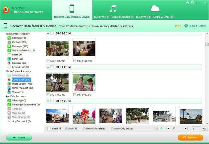 iphone 5 data recovery guide 2 Tenorshare iPhone Data Recovery: software per recuperare dati persi su iPhone