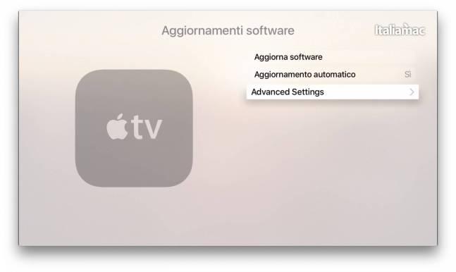 Aggiornamento Apple TV 4