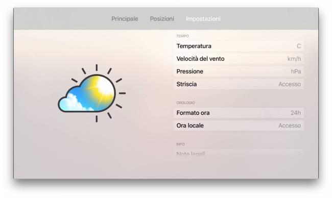 meteo live impostazioni Apalon rilascia Meteo Live, previsioni meteo interattive su Apple TV