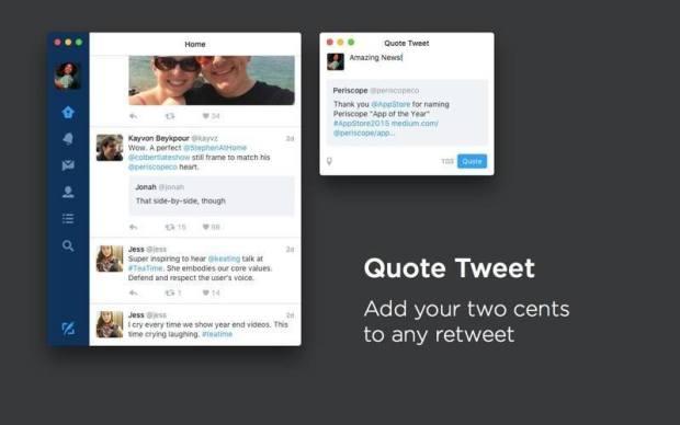 Twitter Mac 4.0 Quote Tweet
