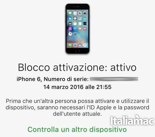 blocco attivazione Come controllare lo stato del blocco attivazione di iCloud su iPhone o iPad