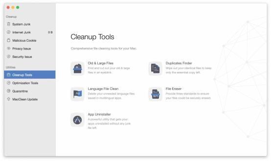 cleanup tools MacClean: Tieni pulito il tuo Mac con il tool 7 in 1