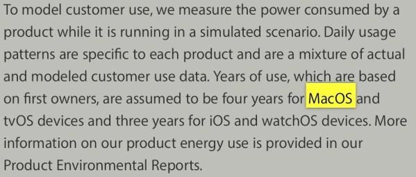 macos apple site Il nome MacOS apparso sulla pagina Ambiente di Apple