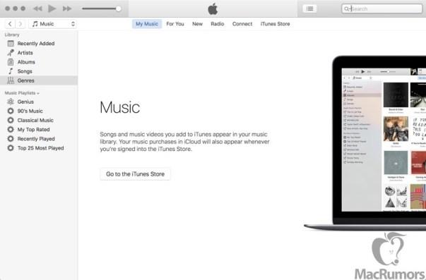 itunesmainscreen 800x527 iTunes 12.4 introdurrà alcuni piccoli miglioramenti grafici in vista del WWDC