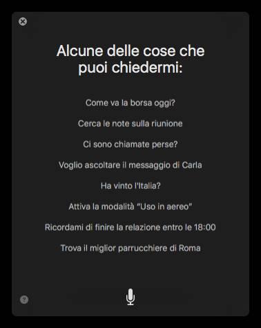 %name Ecco un assaggio di Siri su macOS Sierra