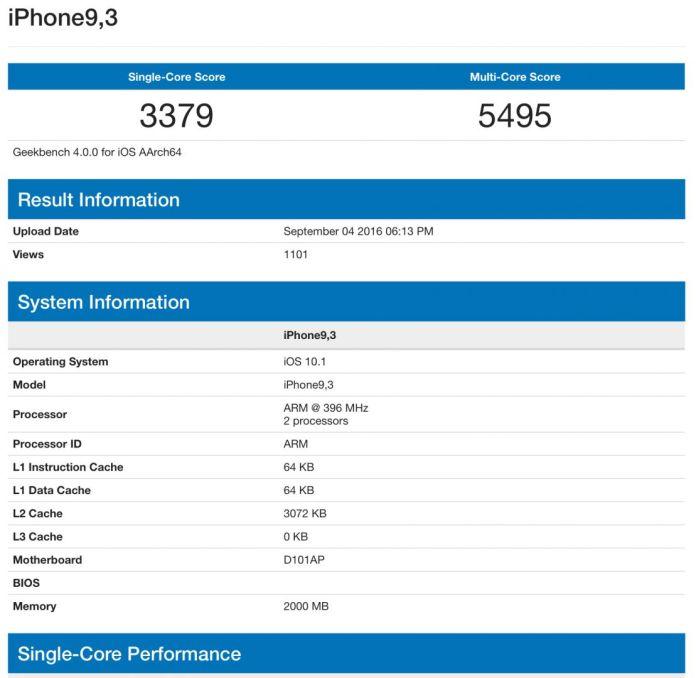 iphone 7 geekbench iPhone 7 e 7 Plus: ecco come saranno!