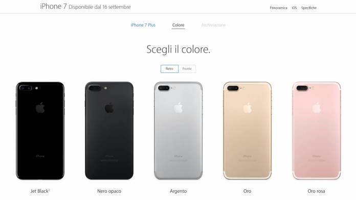 schermata 2016 09 09 alle 18.43.21 Iniziati i pre ordini di iPhone 7, iPhone 7 Plus e Apple Watch Series 2 in Italia!