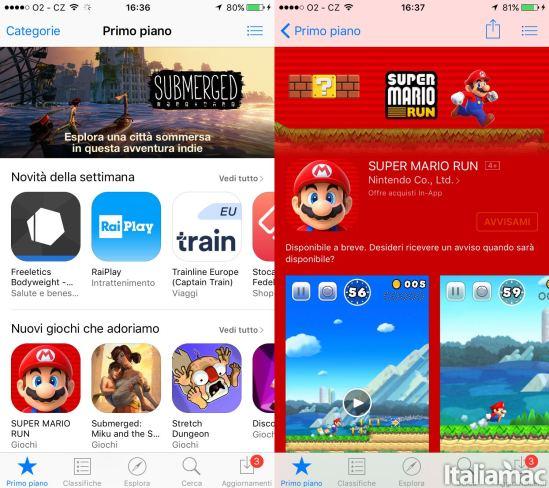 super mario run app Super Mario Run sbarcherà in AppStore il 15 Dicembre