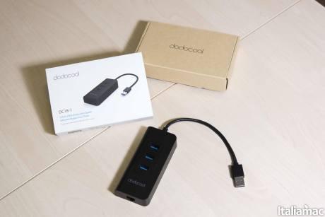 %name Dodocool Hub USB 3.0 con 3 porte USB e porta Ethernet da 5Gbps