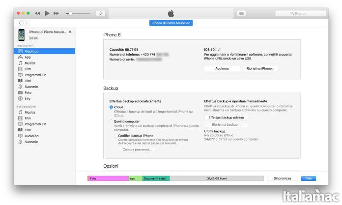 screenshot itunes Problemi di batteria con iOS 10.1.1? Ecco come effettuare il downgrade ad iOS 10.1