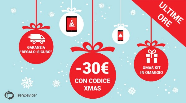 "pr ultimeore TrenDevice: ultime ore coupon 30 € e garanzia ""Regalo Sicuro"". [iPhone, iPad ed Apple Watch Ricondizionati]"