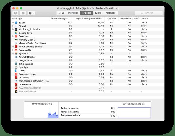 schermata 2016 12 14 alle 10.35.56 Apple ha rimosso il contatore del tempo rimanente batteria sui MacBook con lultimo aggiornamento