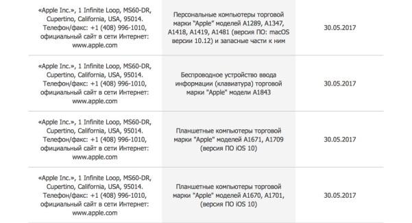 www.italiamac.it apple regulatory filing new products june 2017 Mac, iPad e Magic Keyboard in arrivo? Registrati nuovi dispositivi allEEC