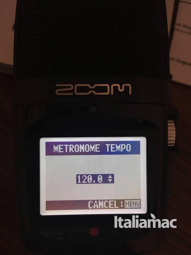 www.italiamac.it zoom h2n zoom h2n impostazione metronomo 620x827 Zoom presenta H2n il microfono compatibile con OsX: la prova di Italiamac