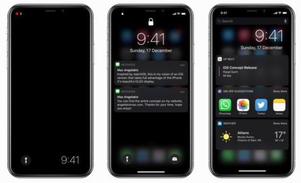 %name Ecco come sarebbe iPhone X in Dark Mode