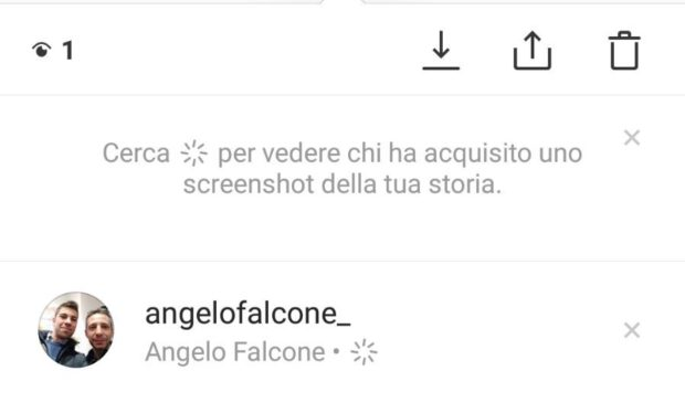 %name Screen Instagram Stories: niente notifica, solo un simbolo!