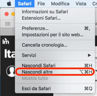 italiamac schermata 2018 02 08 alle 13.39.23 Nascondere tutte le finestre eccetto lapp in utilizzo
