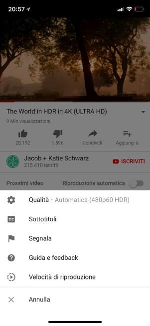 %name Arrivano i video HDR su YouTube per iPhone X