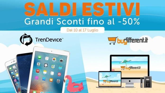 italiamac italiamac saldi estivi trendevice buydifferent Sconti no stop fino al 50% per i saldi estivi di TrenDevice e BuyDifferent